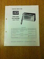 EKCO PT468 Service Sheet Transistor Portable Radio - Vintage Radio