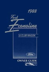 ford econoline club wagon owners manual user guide ebay