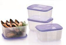 Tupperware Fridge & Freezer FreezerMate Small II 650ml (Set of 4 - Purple Lids)