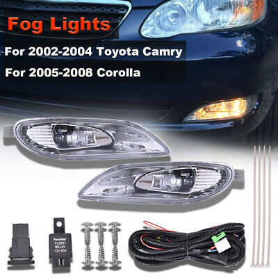 For 2002-2004 Toyota Camry//2005-2008 Corolla Bumper Fog Lights+Switch/&Wiring