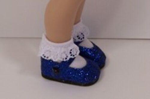 DK Debs Dark BLUE Glitter Basic Doll Shoes For Helen Kish Tulah