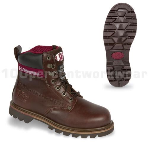 V12 Safety Footwear V1236 BOULDER Mens Work Boots Leather Steel Toe Cap UK Size