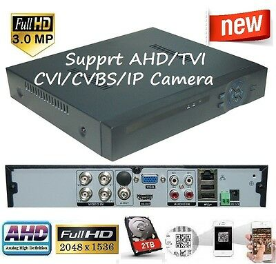 no HDD Sunvision 4Ch 5MP Full HD Hybrid DVR for TVI//AHD//CVI//CVBS Cameras