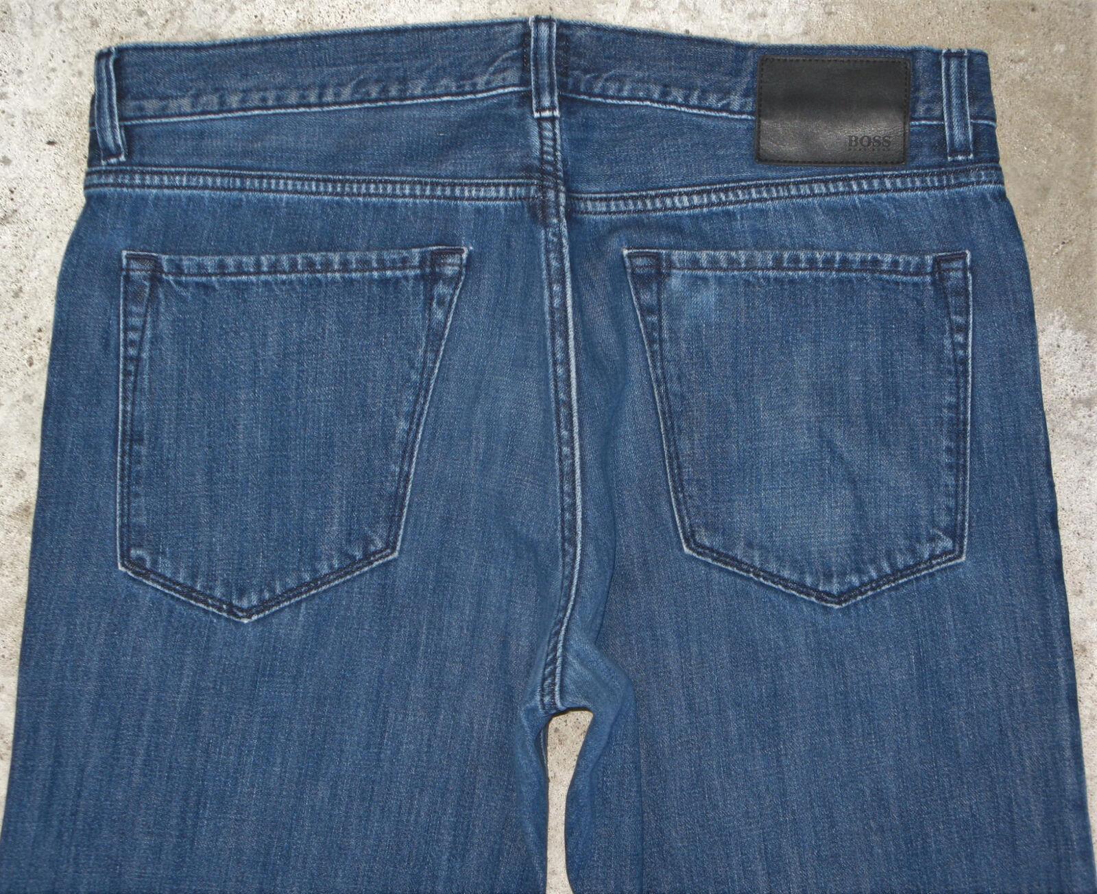 Hugo Boss Maine Jeans Mens Sz 36 X 33 Slim Straight Leg Distressed