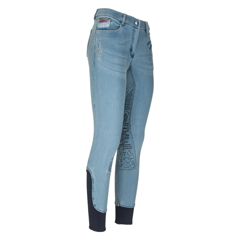 Euro star Kinder Reithose Felisa Denim Knee Grip bi-elastischer Jeans-Ware