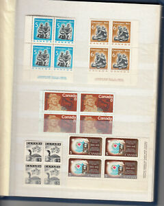 MNH-Canada-Stamp-Collection-Corner-blocks-4-pages-18-Blocks