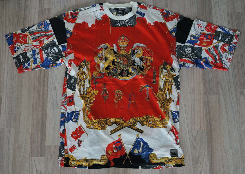 Versace Jeans Couture T-hemd Rot M Piraten Pirates Vintage