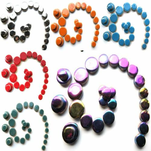50g Various Colours Ceramic Discs Mosaic tiles for arts and crafts