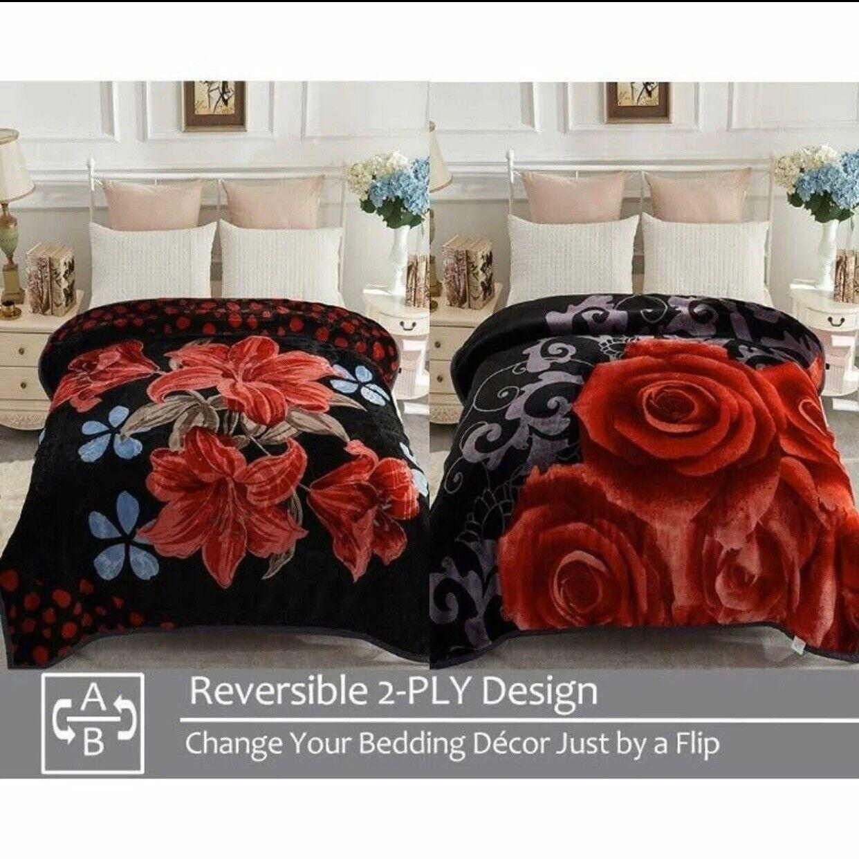 Heavy Weight Double Side Queen Size Super Soft Mink Blankets Flowers 371 For Sale Online Ebay