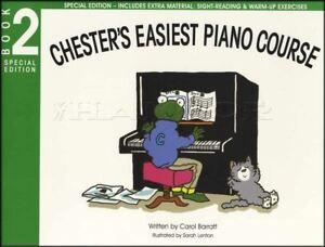 Aimable Chester's Easiest Piano Course Book 2 Sheet Music Apprendre à Jouer Méthode-afficher Le Titre D'origine