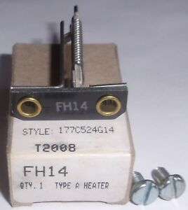 Eaton FH18 Westinghouse Cutler Hammer Thermal Overload Heater