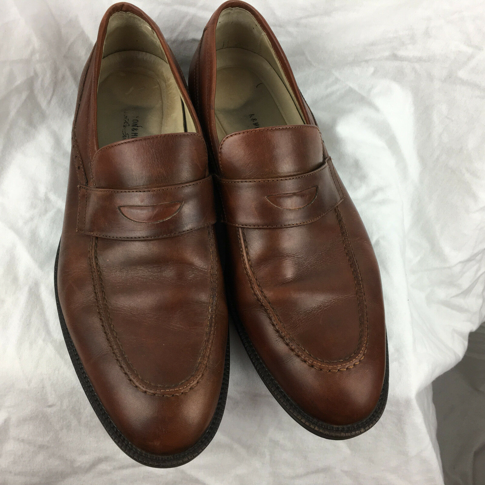 Johnston and Murphy Men's Shoe 205930 Size 11M Brown Leather 205930 Shoe b5edd7