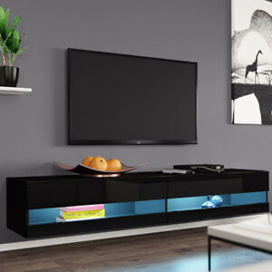 fernsehschrank lowboard tv board rack new h ngeschrank h ngend hochglanz matt ebay. Black Bedroom Furniture Sets. Home Design Ideas