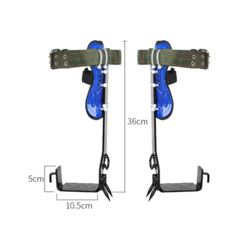 2 Gears Tree//Pole Climbing Spike Set Both Sides Safety Belt Lanyard Rope Tool