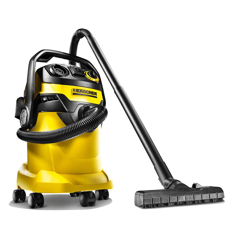 Karcher WD 5P 120-Volt 6.6 Gallon Wet Dry Vacuum w  Outlet - 1.348-197.0