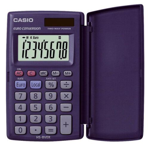 8-stellig Solar- und Batteriebetrieb dunkelblau Taschenrechner Casio® HS-8VER