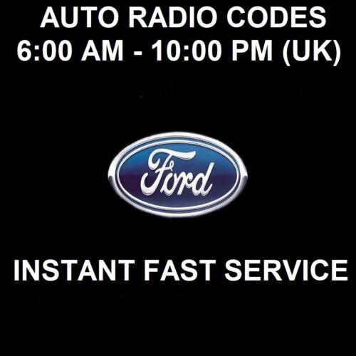 * instantánea Ford V /& M Serie coche radio código de desbloqueo
