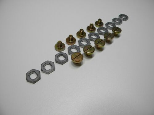 Holley Needle /& Seat Kit Gold Needle /& Seat Adjusting Nut /& Lock Screw  10 Pair