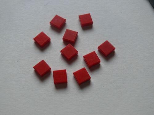 Lego 10 lisse rouge set 31026 6376 31005 6624 10 red tile 1 x 1