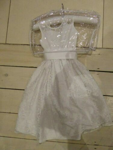 New - M&S Lace Fully Lined Bridesmaid Flower Girl Dress 6-7years 122cm cm White