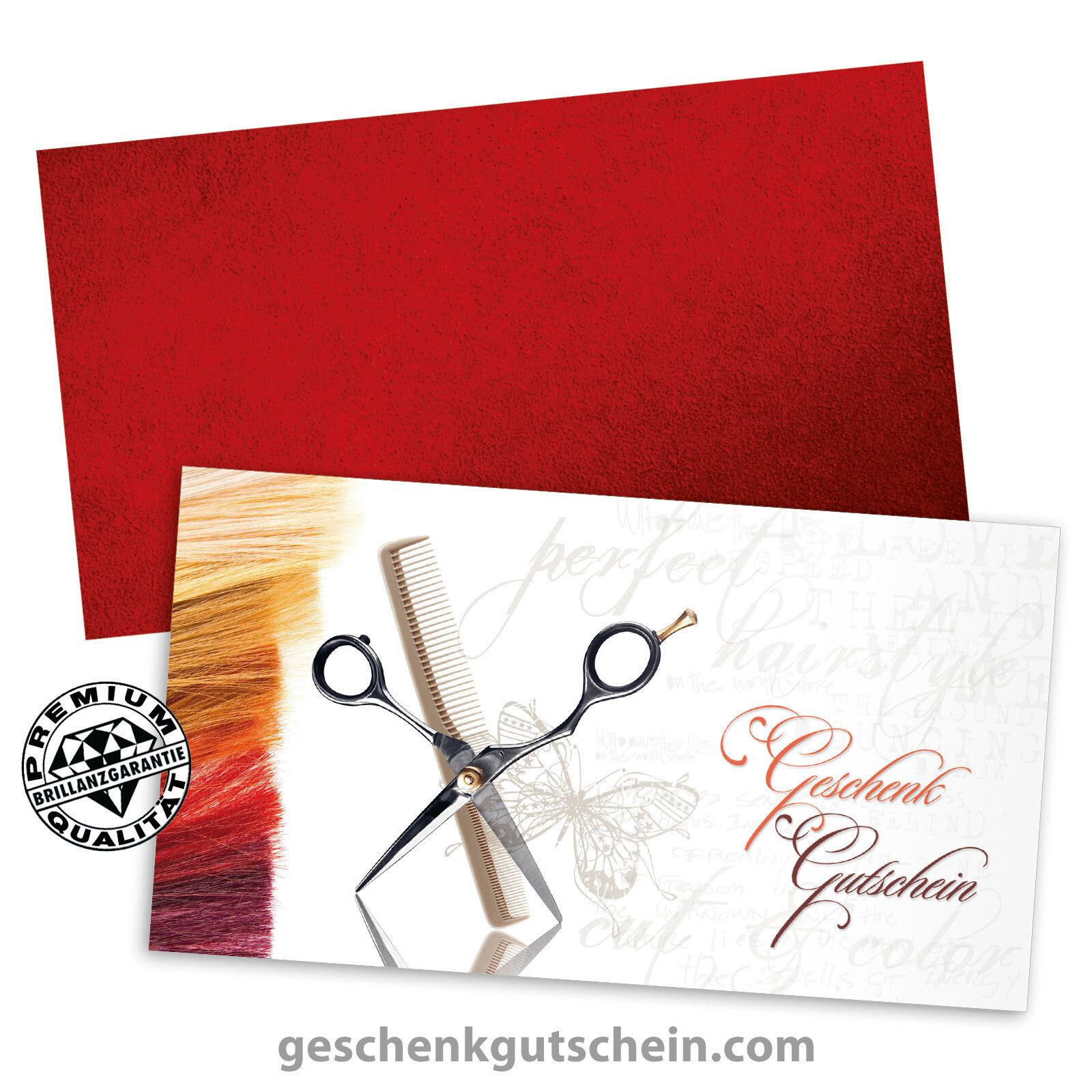 Gutscheinkarten  Standard  mit KuGrüns für Friseure Coiffeure Haarstudios K1403