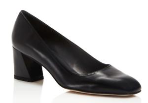 e7ebf8c6aac  375 size 9 Stuart Weitzman Marymid Black Leather Heel Pump Womens ...