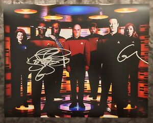 GFA-Star-Trek-GATES-McFADDEN-amp-LeVAR-BURTON-Signed-11x14-Photo-AD2-COA