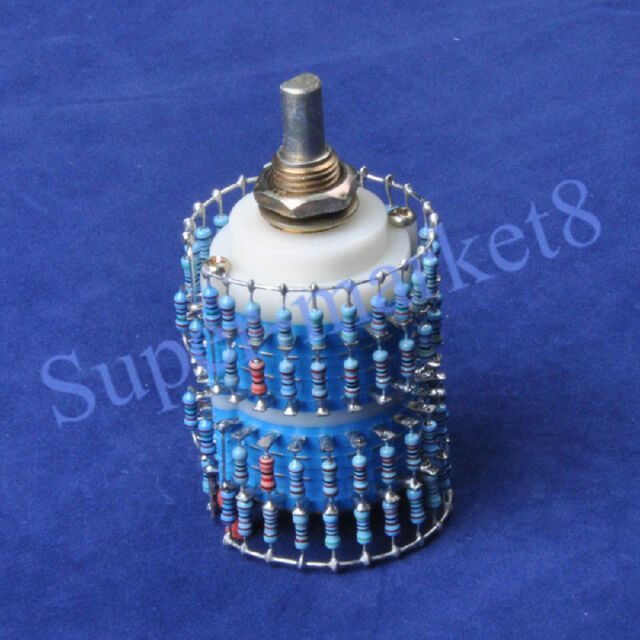 4pole 24 Step Attenuator Volume Control Pot Log A 25K 25KA Stereo Potentiometer