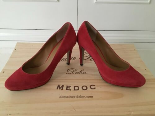 rrp In 'red' Nine West plateau Disco a uk5 58 Suede 96 plateau Scarpa Beautie £ con P148q