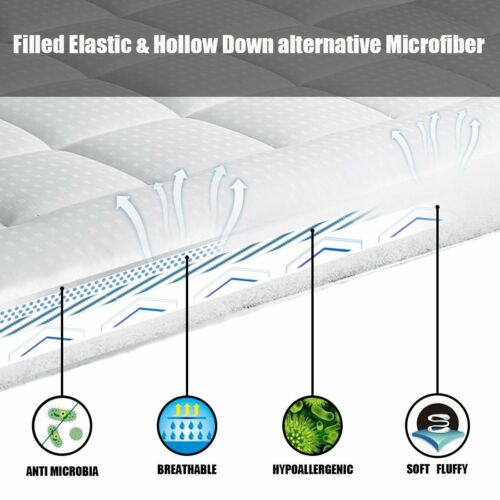 Mattress Pad Cover King Size Cooling Mattress Topper 300TC Thick Cotton Deep