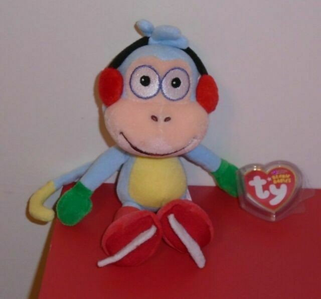 Dora the Explorer Ty Beanie Baby BOOTS the Monkey 8 inch MWMT