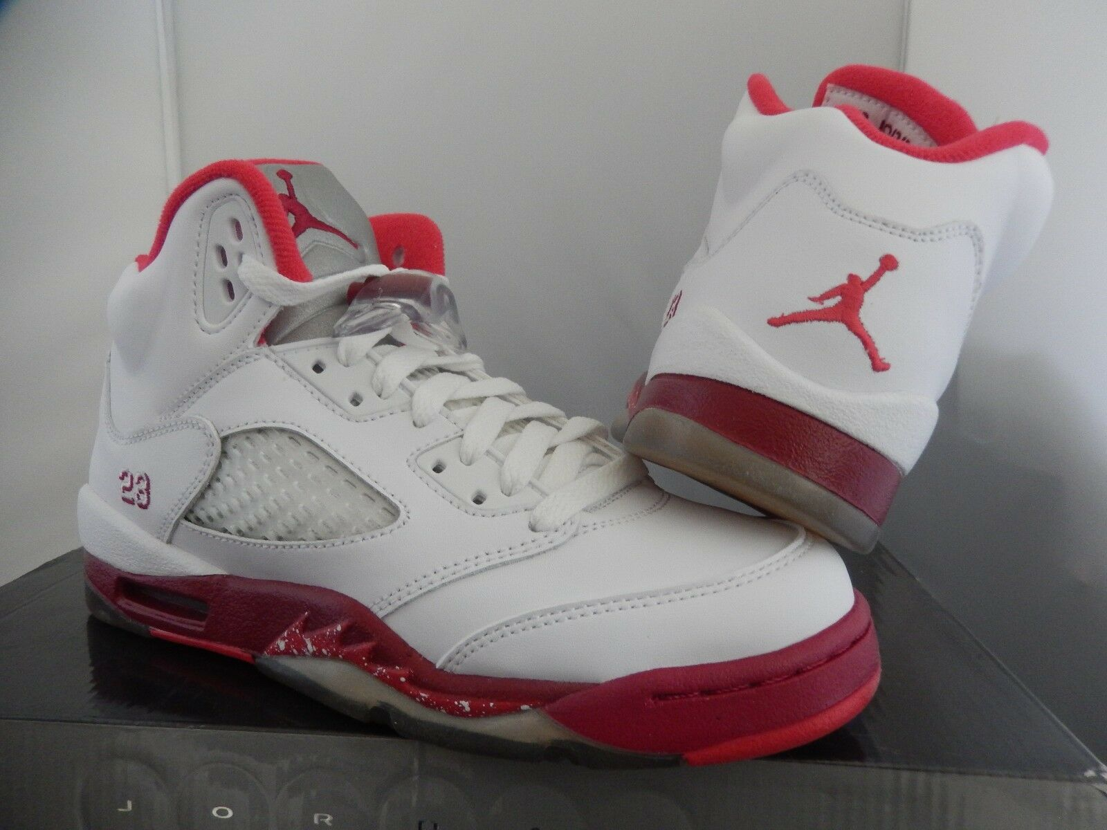 GIRLS AIR AIR AIR JORDAN 5 RETRO (GS) WHITE SZ 4Y -WOMENS SZ 5.5 b72fb7
