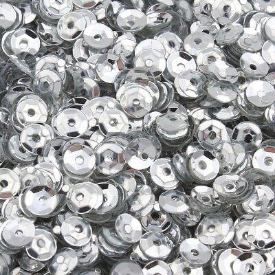 2400 Pailletten Ø 3mm D Blau Gewölbt im Blister für Kleidung und Schmuck PAI4