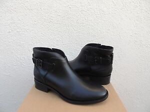0ac4be375b3 Details about UGG BARNETT BLACK WATER-RESISTANT LEATHER CHELSEA ANKLE  BOOTS, US 10/ EUR 41 NIB