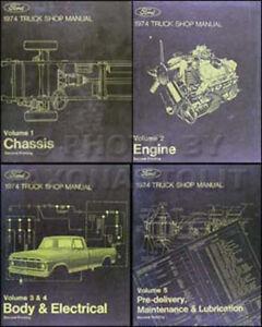 1974 Ford Pickup Truck Van Bronco Shop Manual Set 74 F100 F150 F250. La Foto Se Est Cargando 1974fordcamioavanbronanualdeltaller. Ford. Electrical Schematics 1974 Ford F 250 At Scoala.co