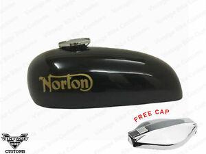 NORTON HI-RIDER BLACK PAINT PETROL TANK WITH FREE CAP