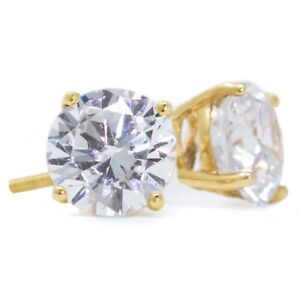 4-Ct-Round-Cut-Stud-Diamond-Earrings-in-Solid-14k-Yellow-Gold-Screw-Back-Studs