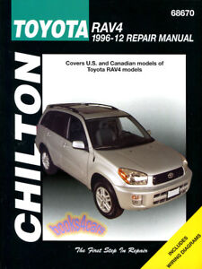 shop manual rav4 service repair toyota book chilton haynes workshop rh ebay com 98 Toyota RAV4 Owner's Manual 1998 Toyota Rav