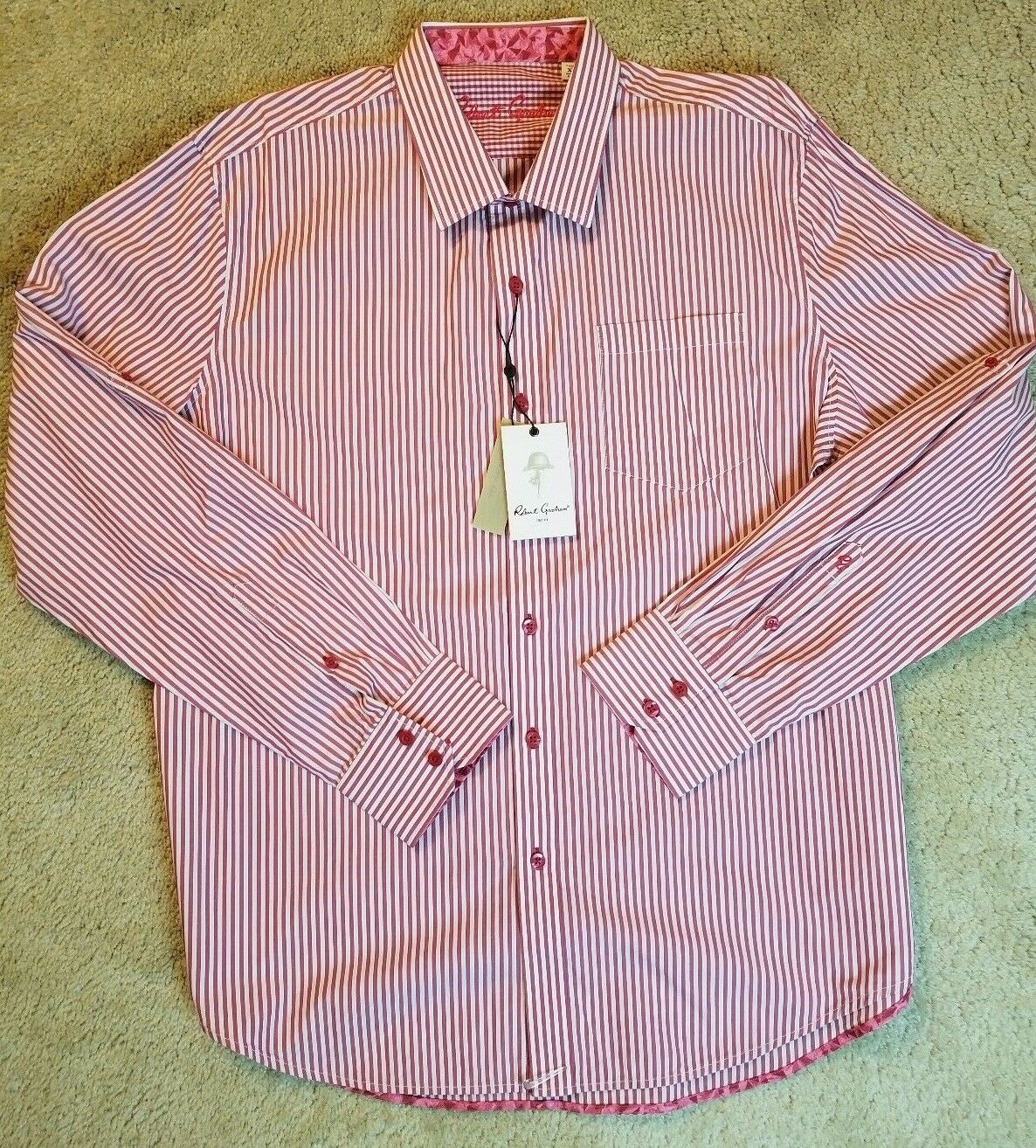 NWT Herren ROBERT GRAHAM BENEDETTO BERRY DRESS SHIRT SIZE XL NEW MSRP 198
