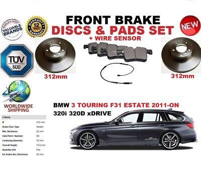 SENSOR PADS KIT FOR BMW 3 F30 F80 SALOON 2011-ON 312MM FRONT BRAKE DISCS SET