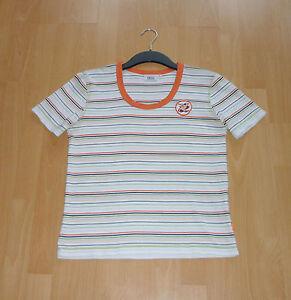 Damen-Cecil-T-Shirt-Weiss-Orange-gestreift-Gr-L-neuwertiger-Zustand