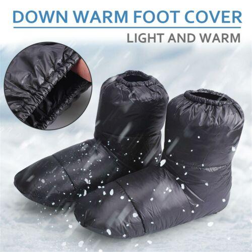 Duck Down Slipper Foot Cover Outdoor High-top Sock Shoes Waterproof Windproof