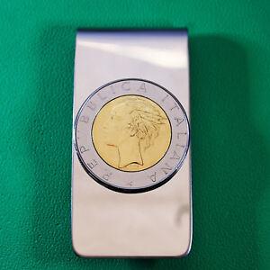 Miss Italy Lire Coins Italian Republic Coin Silvertone Bezel Cuff Links Mens Cufflinks Lira Coins