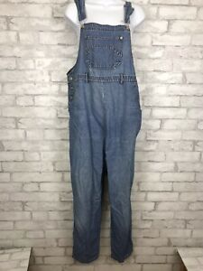 Vintage-Motherhood-Denim-Maternity-Dungaree-Jean-Overall-Bibs-Size-Medium