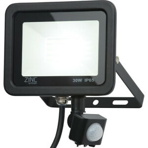 Zinc Slim Led Pir Floodlight Ip65 10w 800lm 6500k Ebay