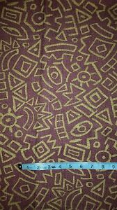 Aztec Print Upholstery Fabric Wine Fabric Dark Wine Color 2