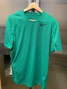 Homme NIKE DRI FIT Pro Combat T shirt Taille M Vert | eBay