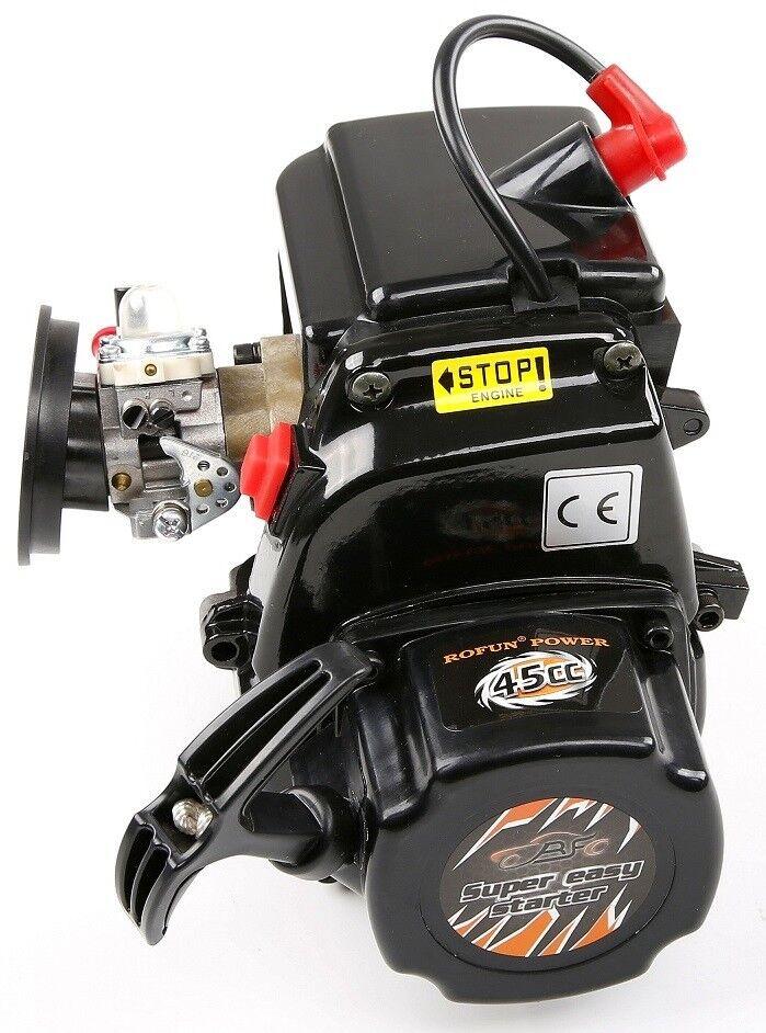 2 Stroke 4 Bolt 45cc Engine for 1 5 HPI ROVAN KM Baja 5b 5t 5sc 4wd RC Car Parts