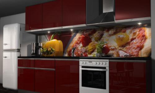 Küchenrückwand Folie Pizza Klebefolie Spritzschutz Dekofolie selbstklebend