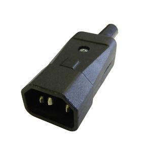 Stromanschluss IEC C14 Stecker Stecker Kabelmontage Verbinder Made ...